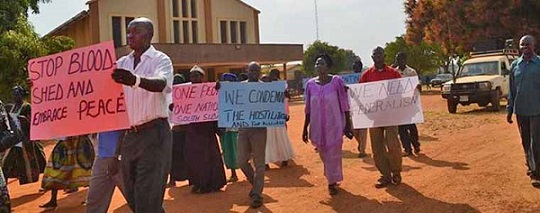 church in south sudan doing peace